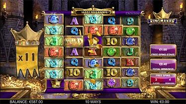 BTG's slot called King Maker