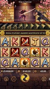 Ninja vs Samurai game from PG Soft
