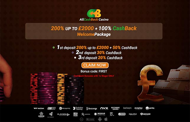 Earn Cashback With 1x Wager At All Cashback Casino No Wagering Casinos