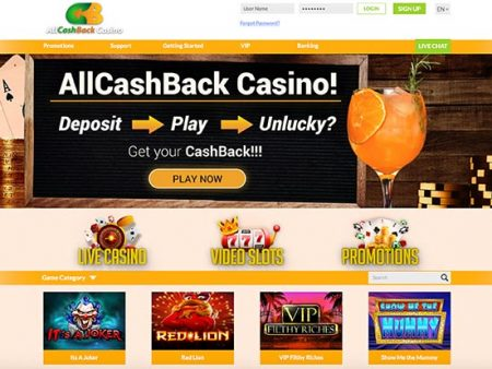 Earn cashback – 1x wager at All CashBack Casino!