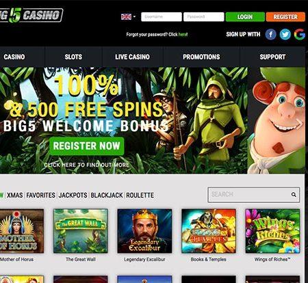 5 Reasons to explore Big 5 Casino