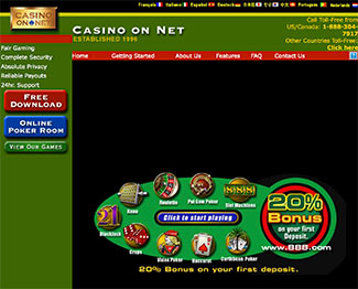 Casino on Net - Screenshot from 2015