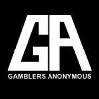 gamblers anonymous black and white logo