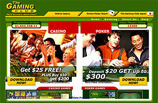Screenshot of Gaming Club's Website from 2005