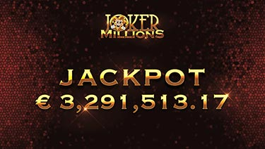 Another Huge Joker Millions Jackpot