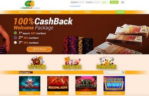 All Cashback Casino Homepage