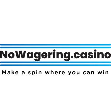No Wagering Casino logo with slogan